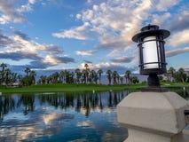Salida del sol del campo de golf Fotografía de archivo