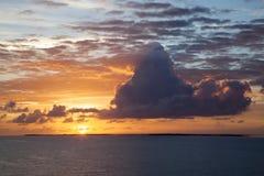 Salida del sol del Caribe Foto de archivo libre de regalías