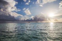 Salida del sol del Caribe Imagenes de archivo