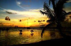 Salida del sol del Caribe Imagen de archivo libre de regalías
