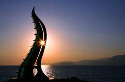 Salida del sol del Cretan Foto de archivo