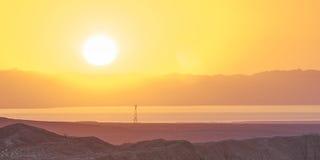 Salida del sol del desierto Fotografía de archivo libre de regalías
