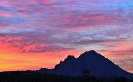 Salida del sol #1 del desierto del Sonora Imagenes de archivo