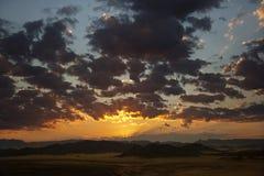 Salida del sol del desierto - Namibia Imagenes de archivo