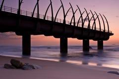 Salida del sol del embarcadero de Umhlanga Fotografía de archivo libre de regalías