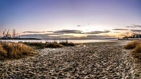 Salida del sol del filamento de Sandymount Fotografía de archivo libre de regalías