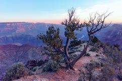 Salida del sol del Gran Cañón Fotografía de archivo libre de regalías