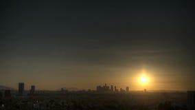 Salida del sol del horizonte de Los Ángeles almacen de metraje de vídeo