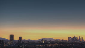 Salida del sol del horizonte de Los Ángeles almacen de video