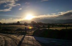 Salida del sol del invierno Fotos de archivo