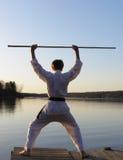 Salida del sol del karate Imagen de archivo