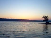 Salida del sol del lago Imagen de archivo