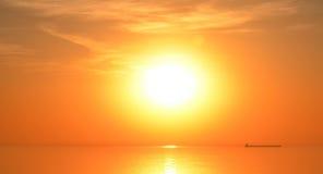 Salida del sol del lago Fotografía de archivo