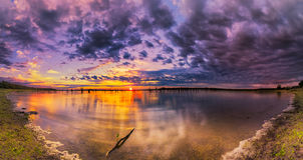 Salida del sol del lago Benbrook imagen de archivo