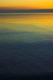 Salida del sol del lago Michigan Fotografía de archivo