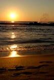 Salida del sol del mar Imagen de archivo