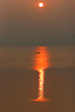 Salida del sol del mar Foto de archivo libre de regalías