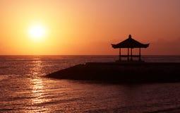 Salida del sol del mar Fotos de archivo