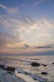 Salida del sol del mar Fotos de archivo libres de regalías