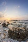 Salida del sol del mar Fotografía de archivo libre de regalías