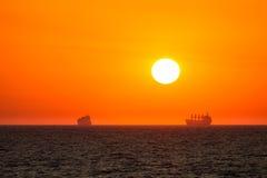 Salida del sol del mar Fotografía de archivo