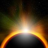 Salida del sol del mundo Imagen de archivo libre de regalías