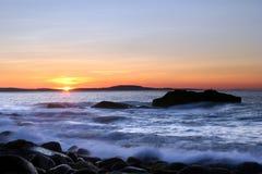 Salida del sol del océano Imágenes de archivo libres de regalías