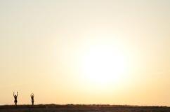 Salida del sol del oro Imagenes de archivo