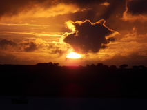 Salida del sol 2015 del otoño fotos de archivo libres de regalías