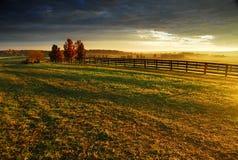 Salida del sol del país Imagen de archivo libre de regalías