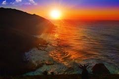 Salida del sol del paisaje marino Fotografía de archivo libre de regalías