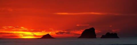 Salida del sol del paisaje marino Imagen de archivo libre de regalías