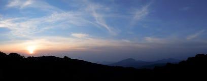 Salida del sol del panorama Foto de archivo libre de regalías