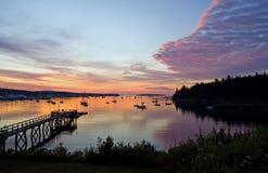 Salida del sol del puerto Foto de archivo libre de regalías