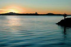 Salida del sol del puerto imagen de archivo libre de regalías
