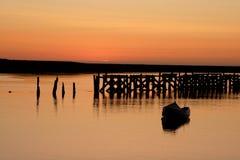 Salida del sol del puerto de la ambladura Imágenes de archivo libres de regalías