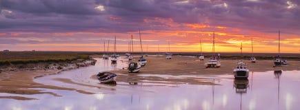 Salida del sol 2 del puerto de Wells Fotografía de archivo libre de regalías