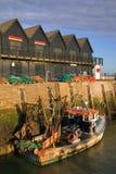 Salida del sol del puerto de Whitstable Foto de archivo libre de regalías