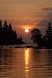 Salida del sol del puerto del Chippewa fotos de archivo