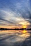 Salida del sol del río Imagenes de archivo