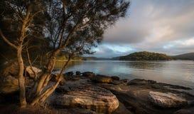 Salida del sol del río de Hawsbury, NSW Imagenes de archivo