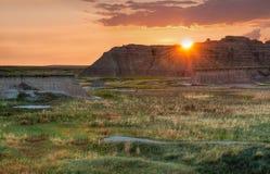 Salida del sol del rastro del castillo Foto de archivo libre de regalías