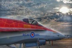 Salida del sol del RCAF Fotos de archivo