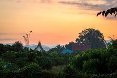 Salida del sol del templo Foto de archivo