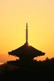 Salida del sol del templo Foto de archivo libre de regalías