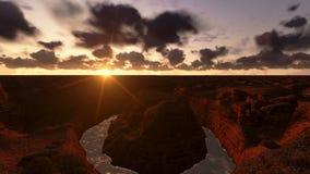Salida del sol del timelapse de Grand Canyon, opinión del helicóptero, cantidad común almacen de video