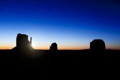 Salida del sol del valle del monumento Fotos de archivo libres de regalías
