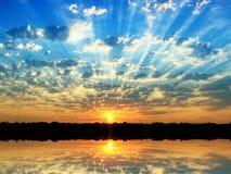 Salida del sol del verano Foto de archivo libre de regalías