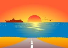 Salida del sol del verano ilustración del vector