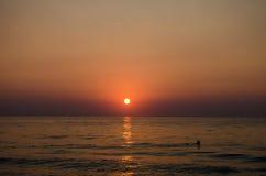 Salida del sol del verano Fotos de archivo libres de regalías